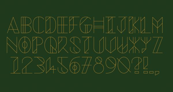Our favourite custom type from Shillington students
